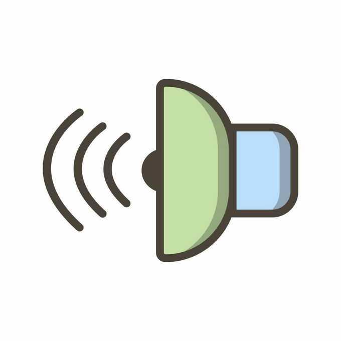 卡通彩色声音图标2096584矢量图片免抠素材免费下载