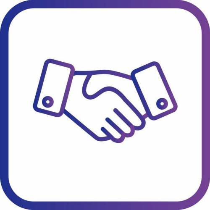 圆角紫色边框握手图标4279332矢量图片免抠素材免费下载
