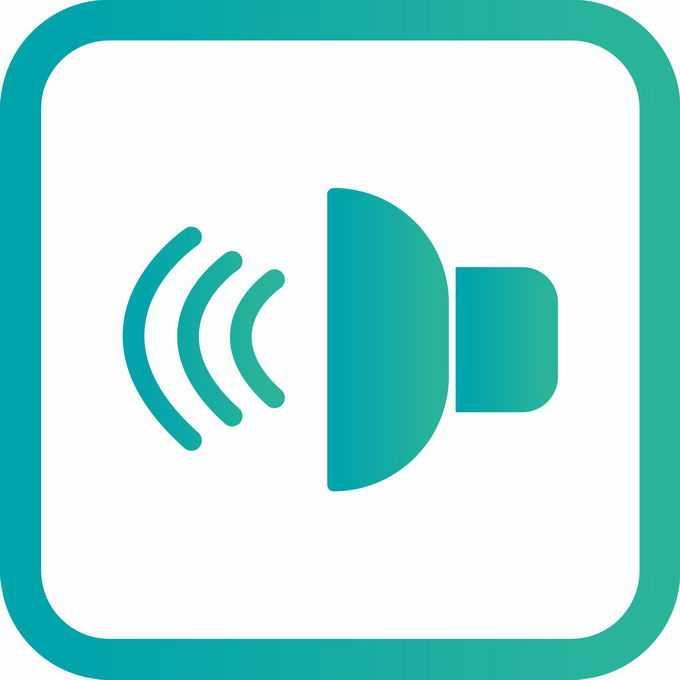 绿色边框声音图标2653368矢量图片免抠素材免费下载