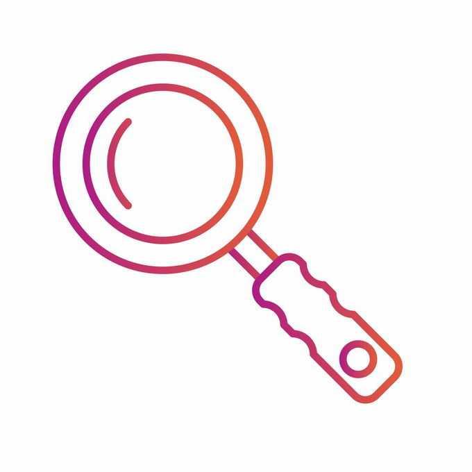 红色线条放大镜图标7596425矢量图片免抠素材免费下载