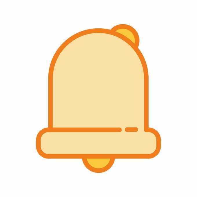MBE风格橙色铃铛消息提醒图案7767101矢量图片免抠素材免费下载