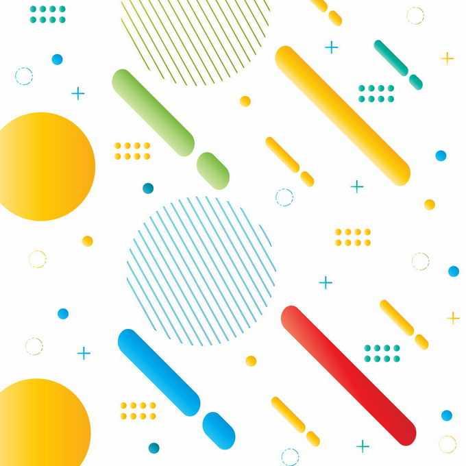 孟菲斯风格彩色线条形状背景图案1051489矢量图片素材
