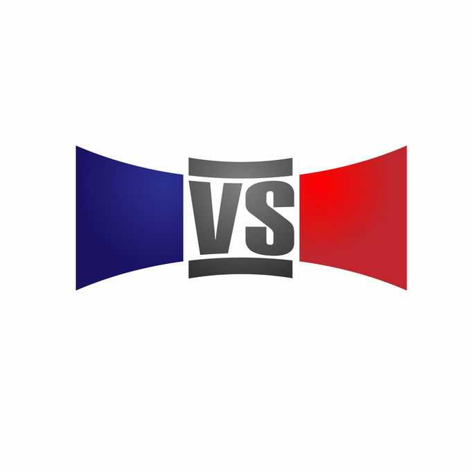深蓝色和红色VS体育游戏比赛比分文本框8266251矢量图片素材
