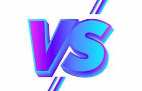 蓝紫色渐变色VS体育游戏比赛比分艺术字6057464矢量图片素材