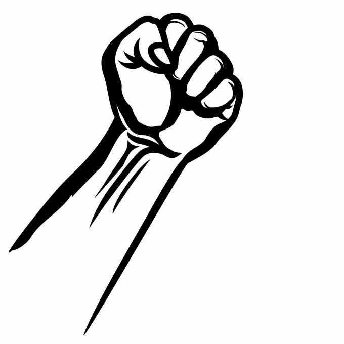 握紧的拳头手绘线条插画8213911矢量图片素材