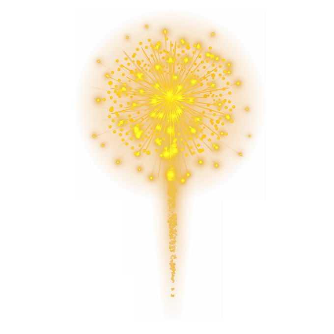 燃放的黄色发光烟花效果7698587图片素材