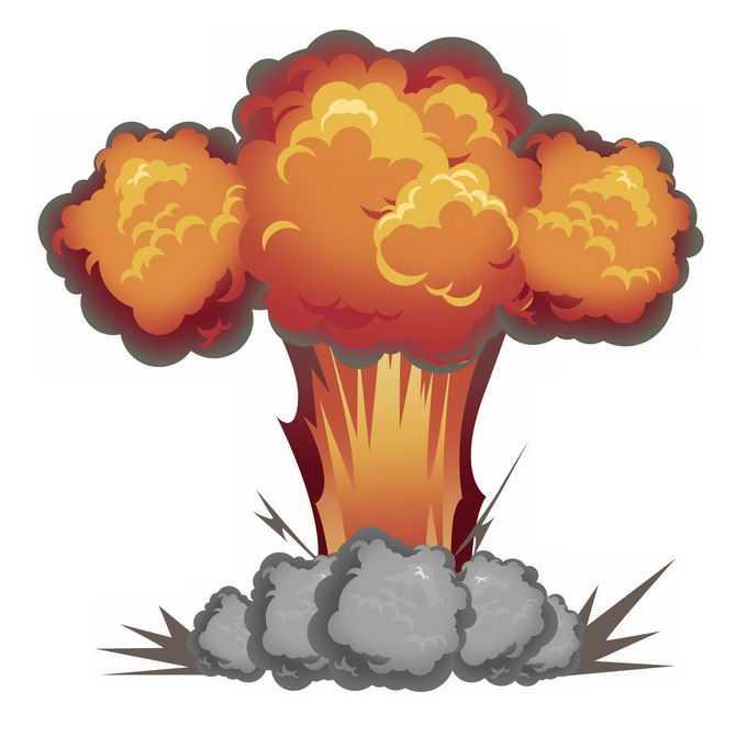 卡通漫画风格原子弹爆炸效果蘑菇云插画3711653图片素材