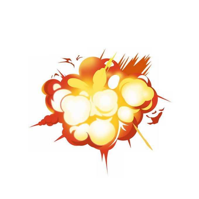 卡通漫画风格红黄色爆炸效果插画7887455图片素材