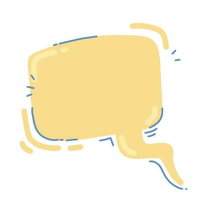 MBE风格黄色卡通对话框6290207图片素材
