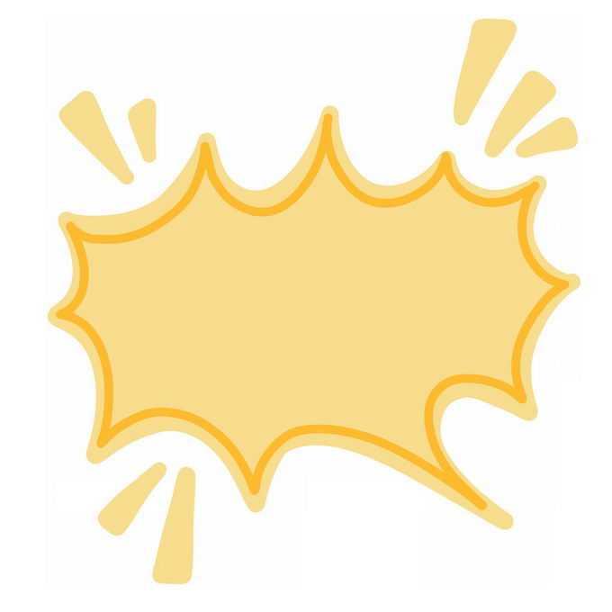 黄色爆炸贴卡通对话框3008836图片素材