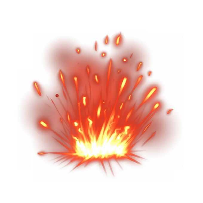 绚丽的红色黄色爆炸效果7055218图片素材