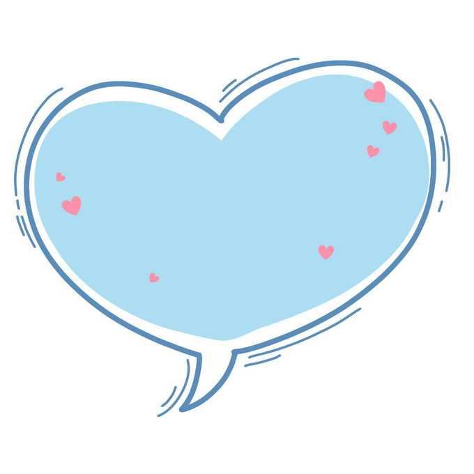 蓝色卡通心形对话框文本框信息框2110351图片素材