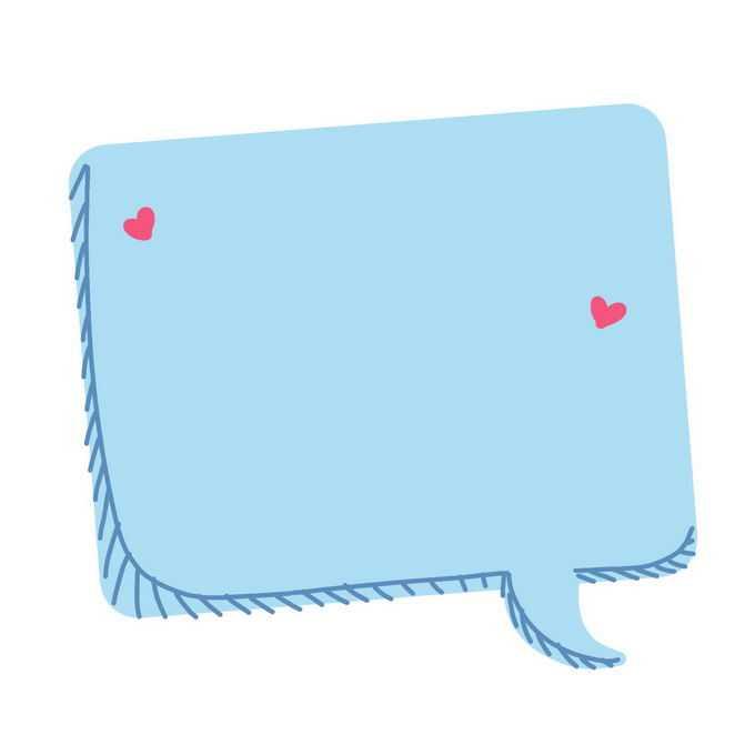 卡通风格蓝色涂鸦对话框文本框7849503图片素材