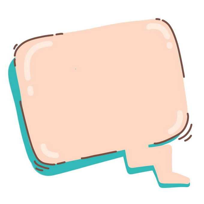 涂鸦卡通线条气泡对话框7426754图片素材
