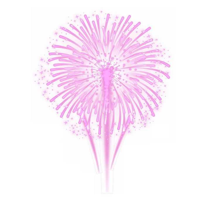 燃放的粉红色烟花爆炸效果4098851图片素材