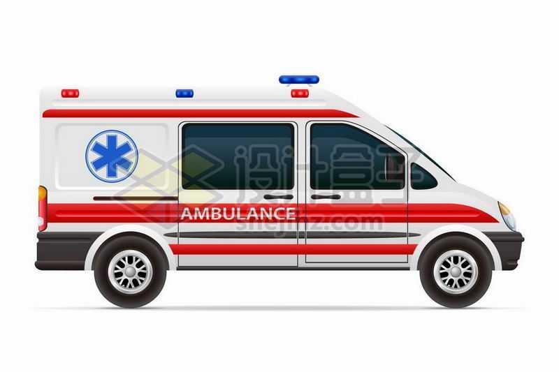 一辆救护车侧视图6549575矢量图片免费下载