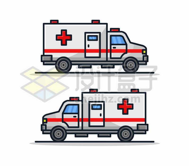2款MBE风格卡通救护车侧视图5184599矢量图片免费下载
