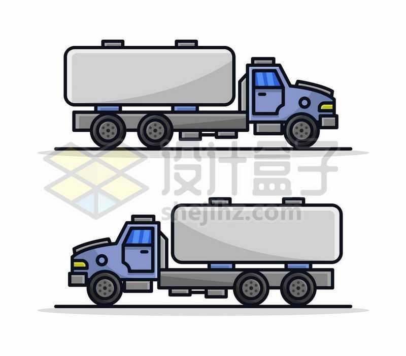 2款MBE风格卡通油罐车卡车侧视图3042782矢量图片免费下载