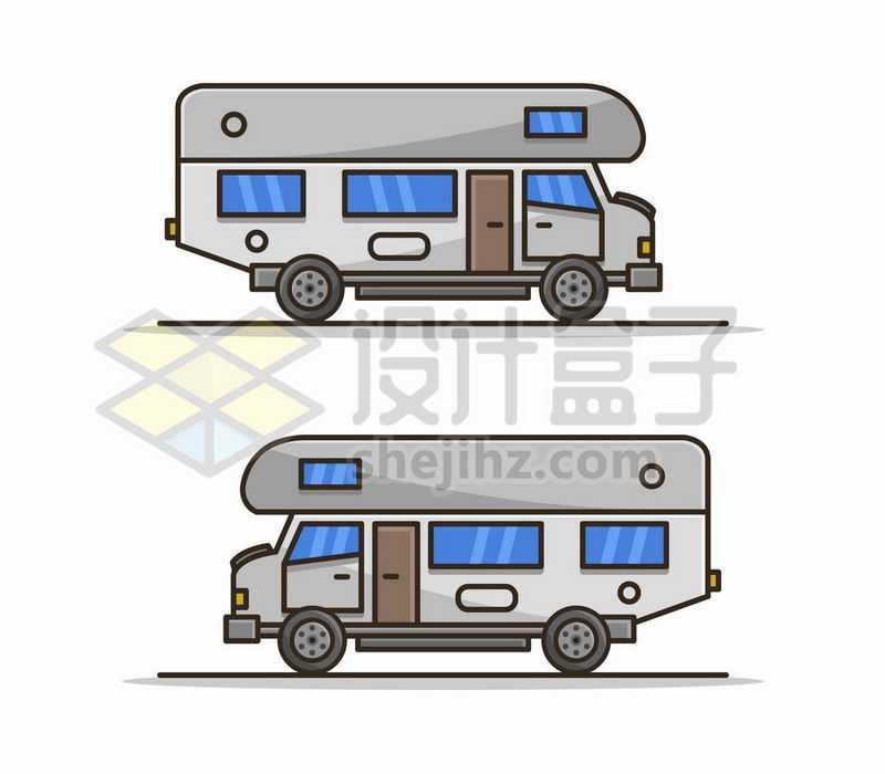 2款MBE风格卡通房车侧视图4003765矢量图片免费下载