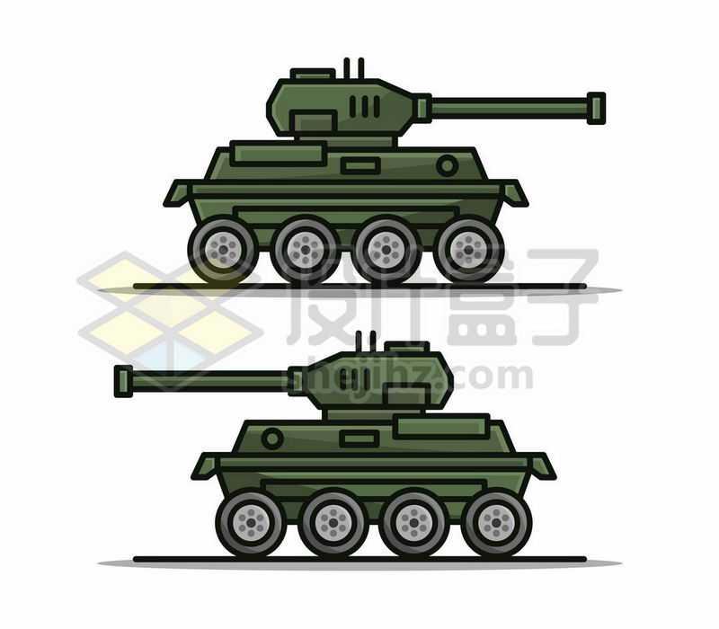 2款MBE风格卡通坦克侧视图5280931矢量图片免费下载