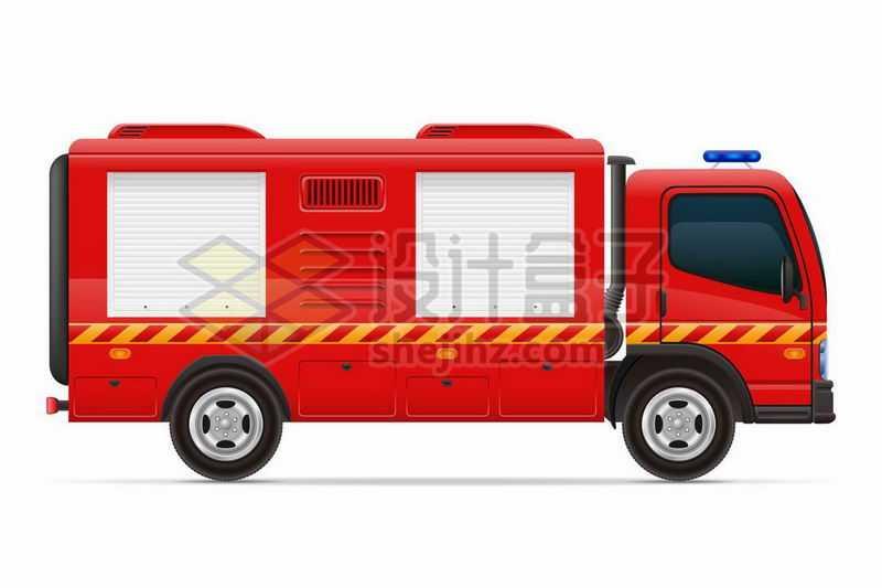 红色的消防车侧面图7259167矢量图片免费下载
