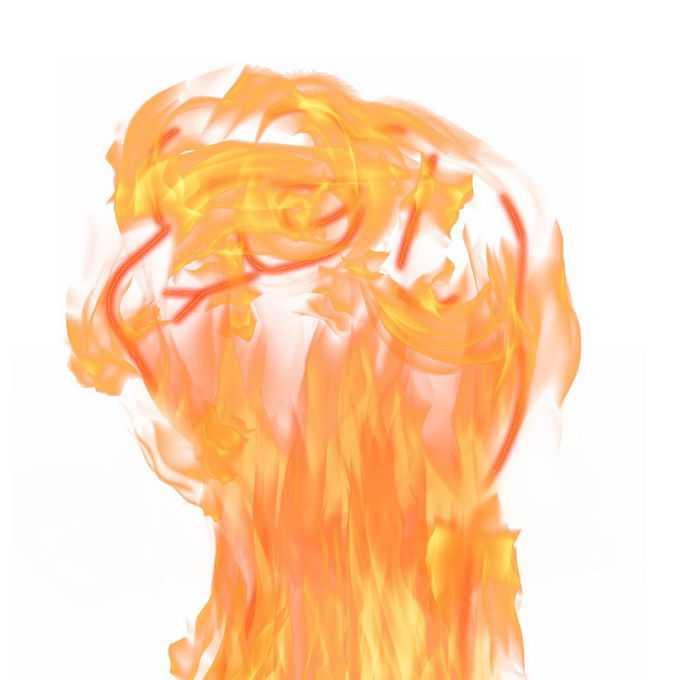 重拳出击火焰组成的拳头效果7969202免抠图片素材