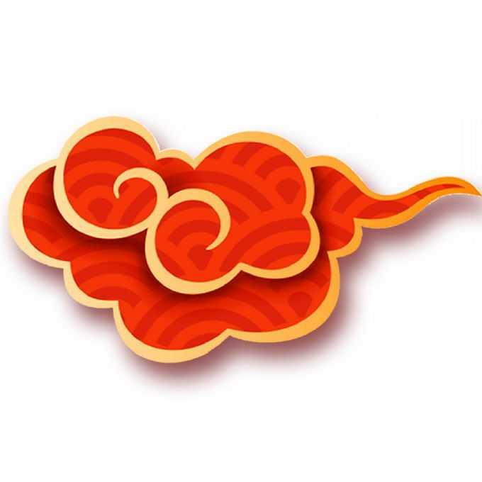 金色描边中国风祥云图案装饰2328915免抠图片素材