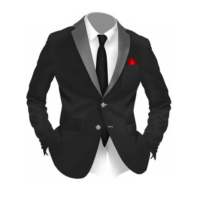 黑色西装男士礼服6583022免抠图片素材