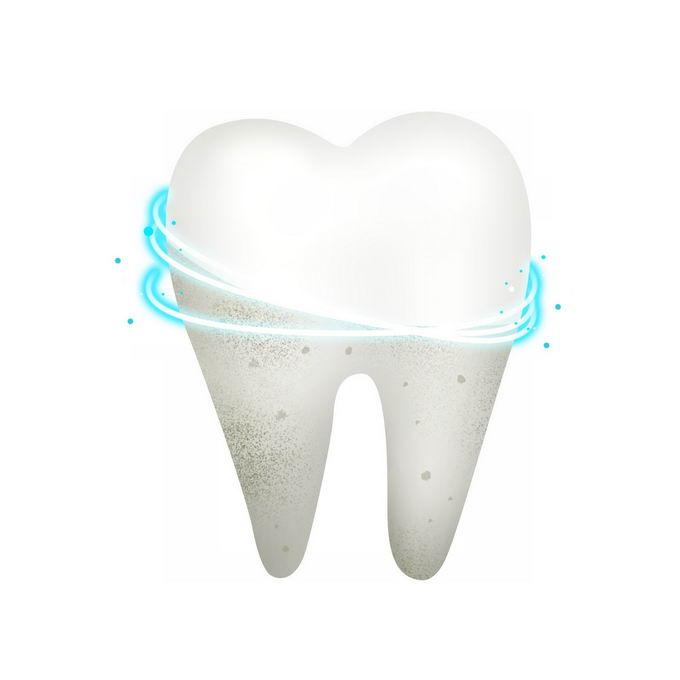 清洁牙齿洗牙前后对比效果图8078290免抠图片素材