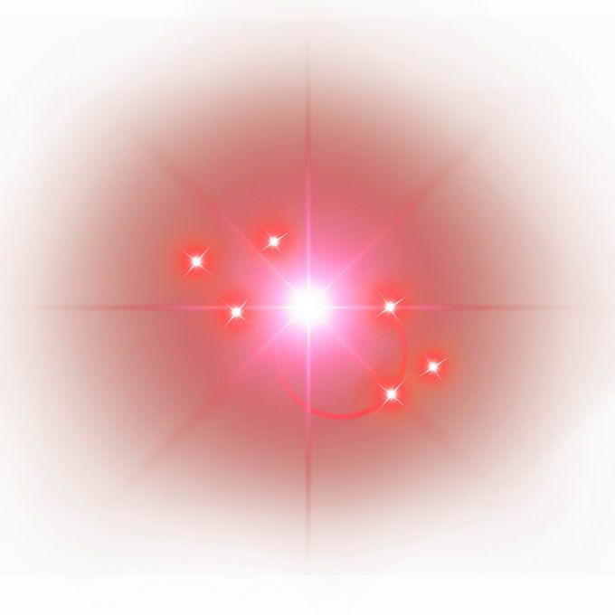 红色星光星芒光晕效果5675324免抠图片素材