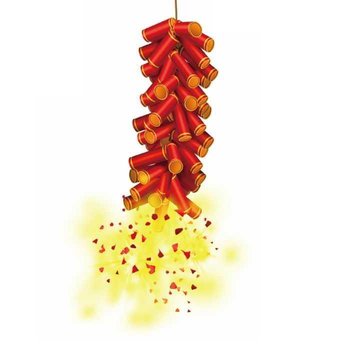 新年春节过年喜庆红色鞭炮7929036免抠图片素材