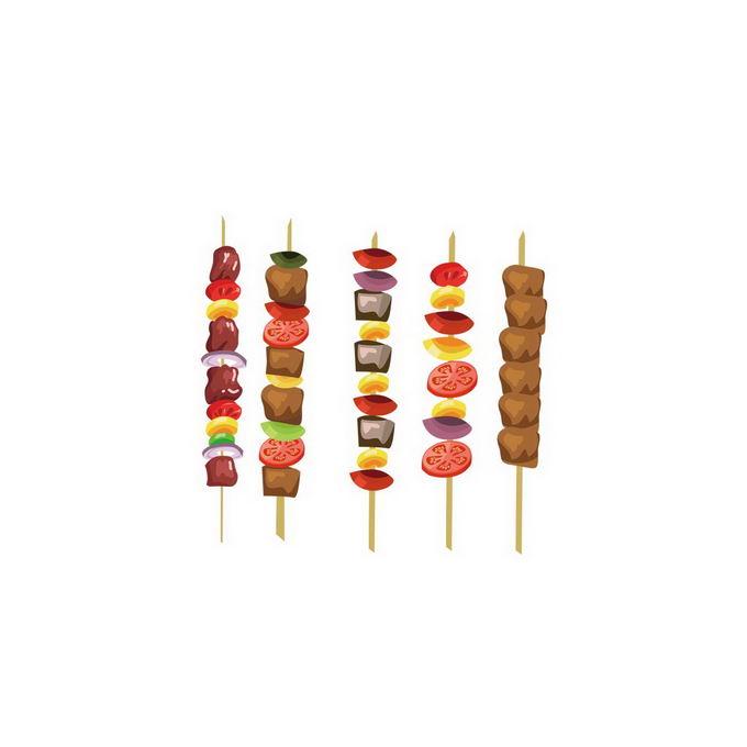 各种烤肉串烤蔬菜串美味烧烤8879112免抠图片素材