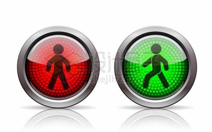 人行横道行人红绿灯红灯和绿灯交通灯6762966矢量图片免抠素材免费下载