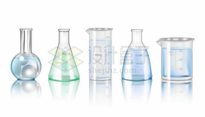圆底烧瓶锥形瓶量杯量筒等化学实验仪器7871731矢量图片免抠素材免费下载