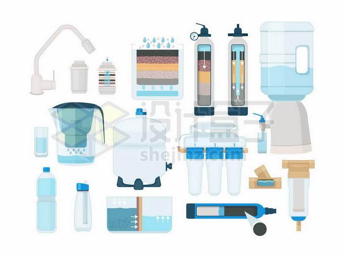 各种直饮机净水机滤芯内部结构示意图7487260矢量图片免抠素材免费下载