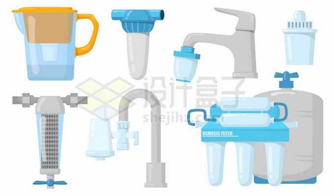 各种直饮水自来水净化器净水机6361009矢量图片免抠素材免费下载
