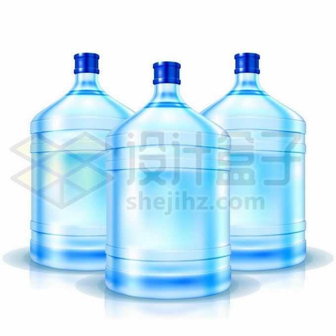 3个蓝色的桶装纯净水桶5301156矢量图片免抠素材免费下载