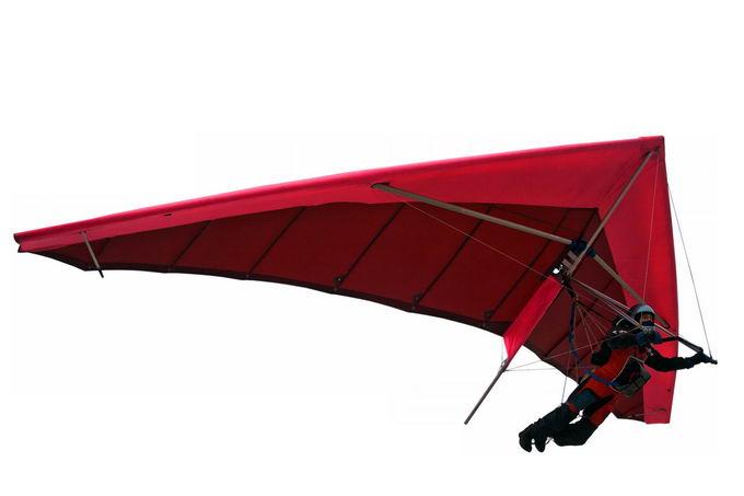红色滑翔翼悬挂滑翔机三角翼极限运动5810835png免抠图片素材