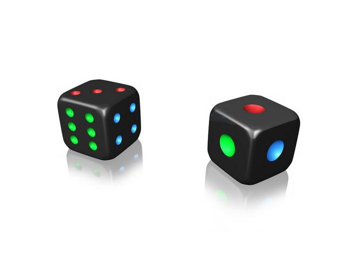 2颗黑色的骰子3744348png免抠图片素材