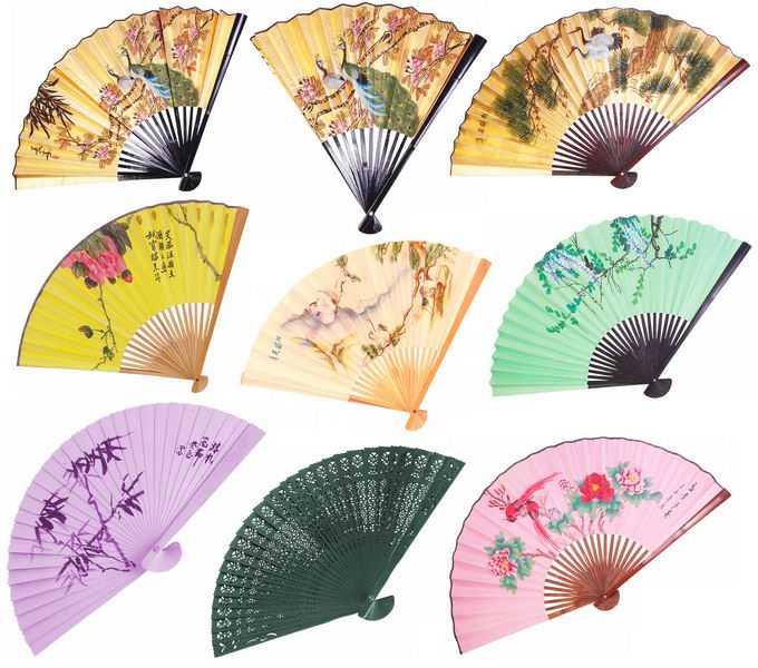 9款中国风图案纸折扇8459093png免抠图片素材