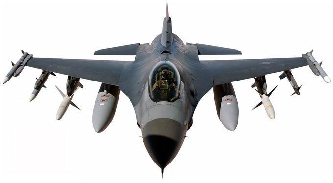 挂载导弹和副油箱的F16战斗机3249738png免抠图片素材