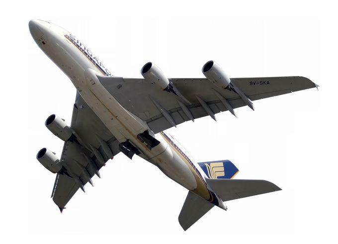 大型客机空中客车大飞机仰视图4820605png免抠图片素材