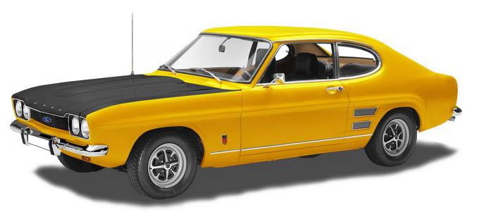 黄色福特复古汽车老爷车跑车png免抠图片素材