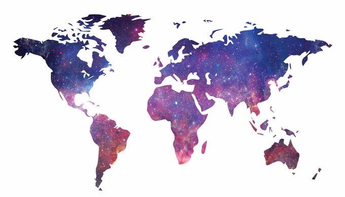 星空背景的世界地图8213004png免抠图片素材