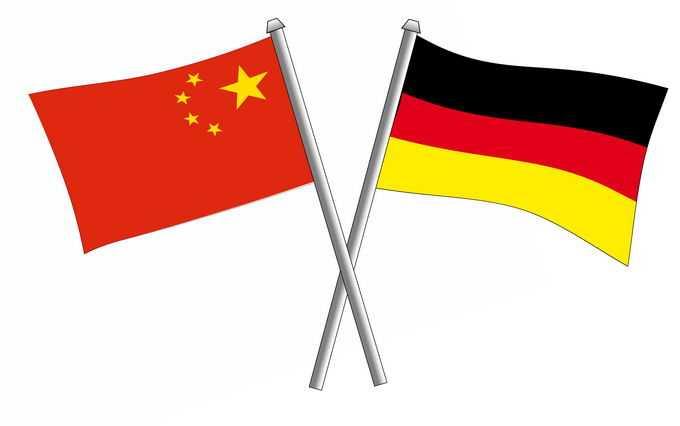交叉的中国五星红旗和德国国旗中德关系6171995png免抠图片素材