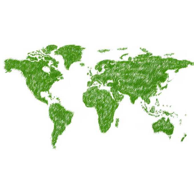 青草覆盖的世界地图9143383png免抠图片素材