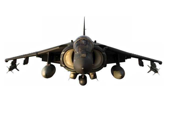 悬停状态的鹞式战斗机正面垂直/短距起降战斗机7784131png免抠图片素材