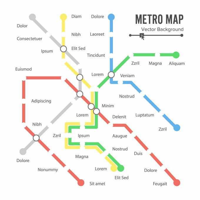 城市地铁运营线路图2910216矢量图片免抠素材
