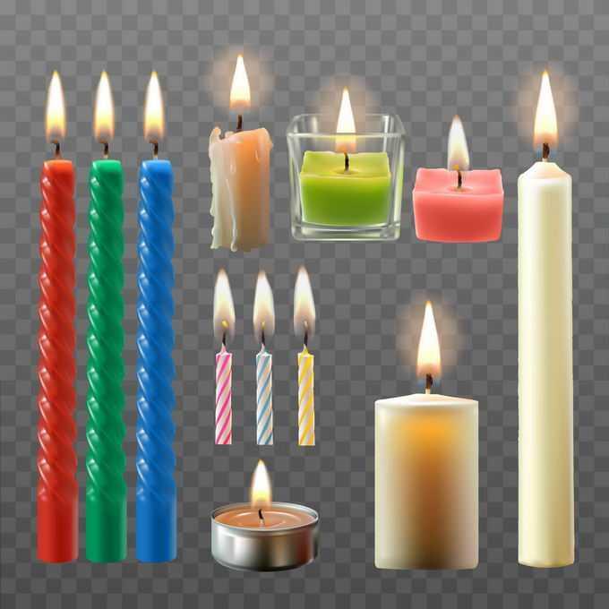 各种各样的生日蜡烛香薰蜡烛2078764矢量图片免抠素材
