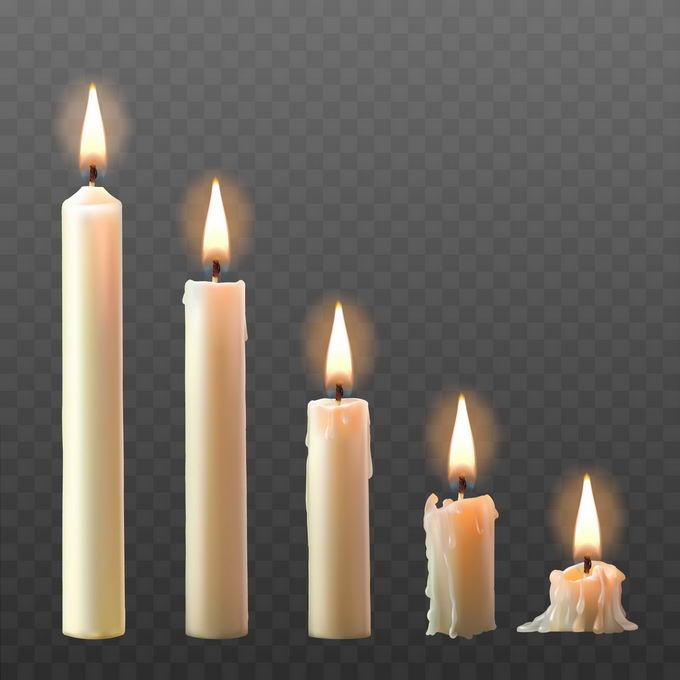 燃烧着的白蜡烛5779703矢量图片免抠素材